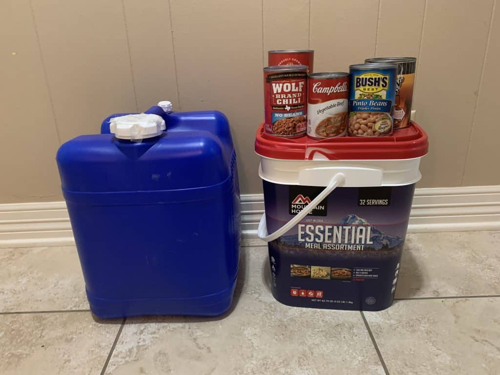 New Prepper Food and Water