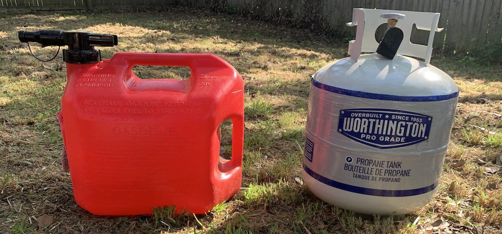 Gas and propane for generator